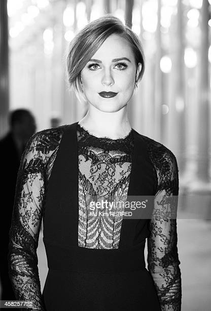 Actress Evan Rachel Wood is photographed at the 2014 LACMA Art Film Gala Honoring Barbara Kruger And Quentin Tarantino Presented By Gucci on November...