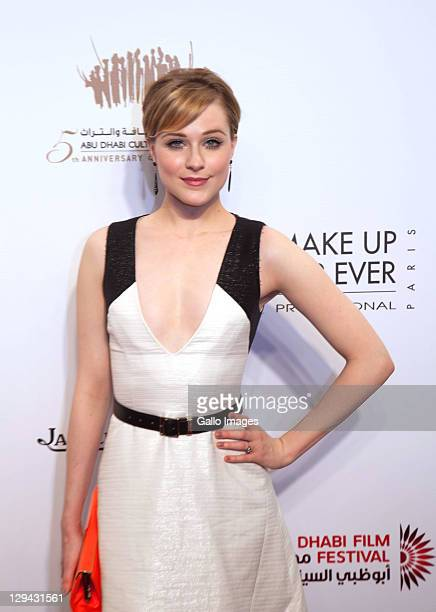 Actress Evan Rachel Wood on the red carpet at the screening of 'The Ides of March' on Day 2 of the Abu Dhabi Film Festival at the Abu Dhabi Theatre...