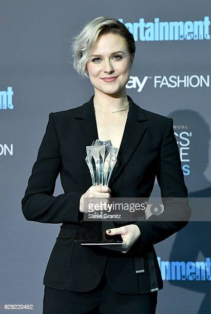 Actress Evan Rachel Wood poses in the press room during after winning the award for Best Actress in a Drama Series for 'Westworld' The 22nd Annual...