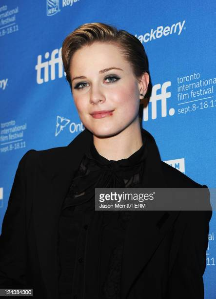 Actress Evan Rachel Wood speaks onstage at The Ides Of March Press Conference during 2011 Toronto International Film Festival on September 9 2011 in...