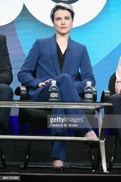 Actress Evan Rachel Wood speaks onstage during the 'Westworld' panel discussion at the HBO portion of the 2016 Television Critics Association Summer...