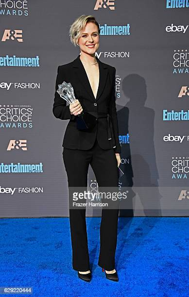 Actress Evan Rachel Wood winner of Best Actress in a Drama Series for 'Westworld' poses in the press room during The 22nd Annual Critics' Choice...