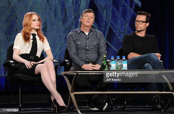 Actress Evan Rachel Wood Writer/Director/Producer Todd Haynes and Actor Guy Pearce speak at the HBO Winter 2011 TCA Panel held at the Langham Hotel...