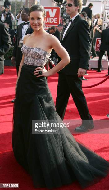 Actress Evangeline Lilly arrives at the 57th Annual Emmy Awards held at the Shrine Auditorium on September 18 2005 in Los Angeles California