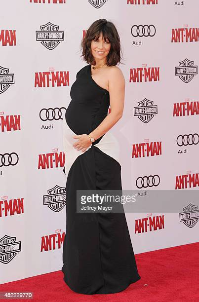 Actress Evangeline Lilly arrives at the Los Angeles premiere of Marvel Studios 'Ant-Man' at Dolby Theatre on June 29, 2015 in Hollywood, California.