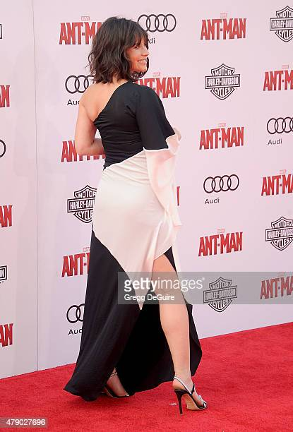 Actress Evangeline Lilly arrives at the premiere of Marvel Studios 'AntMan' at Dolby Theatre on June 29 2015 in Hollywood California