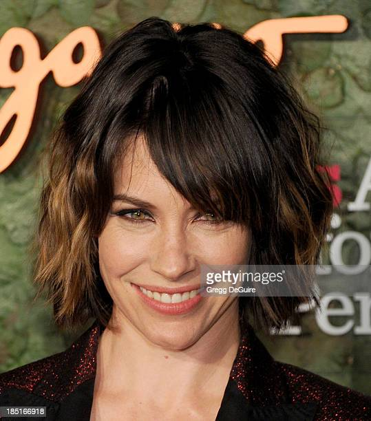 Actress Evangeline Lilly arrives at the Wallis Annenberg Center For The Performing Arts Inaugural Gala at Wallis Annenberg Center for the Performing...