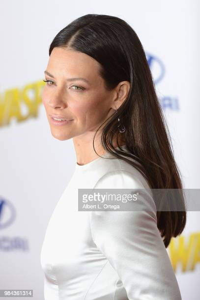 Actress Evangeline Lilly arrives for the Premiere Of Disney And Marvel's AntMan And The Wasp held at the El Capitan Theater on June 25 2018 in...