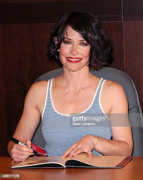"Actress Evangeline Lilly attends a signing for her book ""The Squickerwonkers"" at Barnes & Noble bookstore at The Grove on November 22, 2014 in Los..."