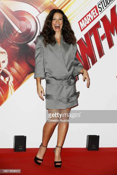 Actress Evangeline Lilly attends 'AntMan And The Wasp' photocall at Hotel De Russie on July 19 2018 in Rome Italy