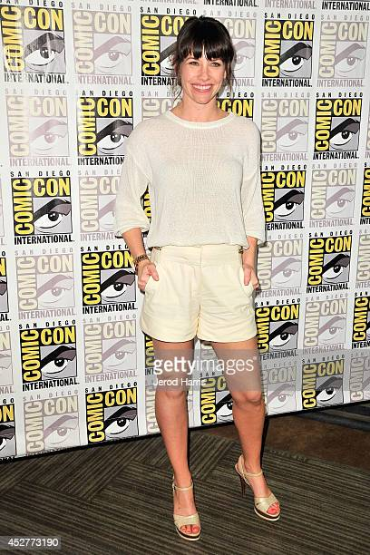 Actress Evangeline Lilly attends Marvel's 'AntMan' press line during ComicCon International 2014 at San Diego Convention Center on July 26 2014 in...