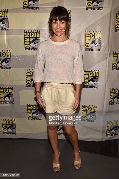 Actress Evangeline Lilly attends Marvel's Hall H Panel for AntMan during ComicCon International 2014 at San Diego Convention Center on July 26 2014...