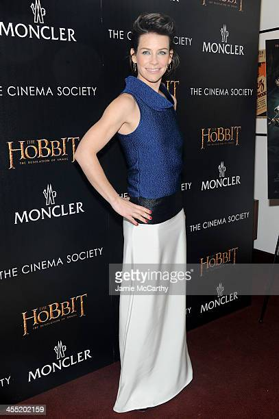Actress Evangeline Lilly attends New Line Cinema and MGM Pictures' screening of 'The Hobbit The Desolation of Smaug' hosted by the Cinema Society and...