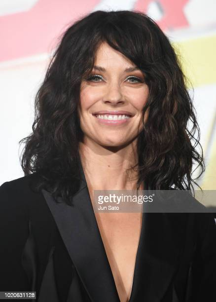 Actress Evangeline Lilly attends the 'AntMan And The Wasp' premiere at Toho Cinemas Shinjuku on August 21 2018 in Tokyo Japan