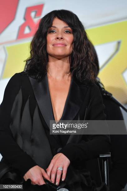 Actress Evangeline Lilly attends the 'AntMan And The Wasp' premiere on August 21 2018 in Tokyo Japan