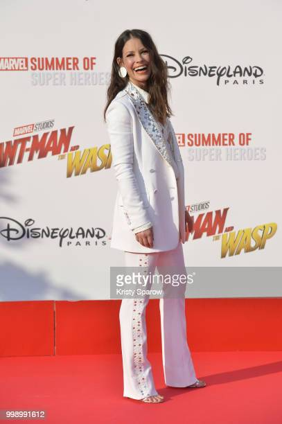 Actress Evangeline Lilly attends the European Premiere of Marvel Studios 'AntMan And The Wasp' at Disneyland Paris on July 14 2018 in Paris France