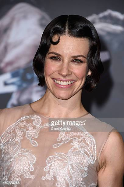 Actress Evangeline Lilly attends 'The Hobbit The Battle Of The Five Armies' Los Angeles Premiere at Dolby Theatre on December 9 2014 in Hollywood...