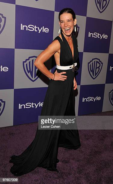 Actress Evangeline Lilly attends the InStyle and Warner Bros 67th Annual Golden Globes post party held at the Oasis Courtyard at The Beverly Hilton...