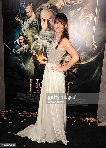 Actress Evangeline Lilly attends the Los Angeles premiere of The Hobbit The Desolation Of Smaug at TCL Chinese Theatre on December 2 2013 in...