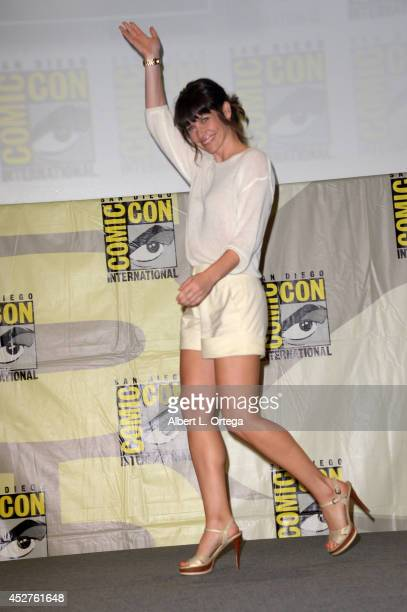 Actress Evangeline Lilly attends the Marvel Studios panel during ComicCon International 2014 at San Diego Convention Center on July 26 2014 in San...