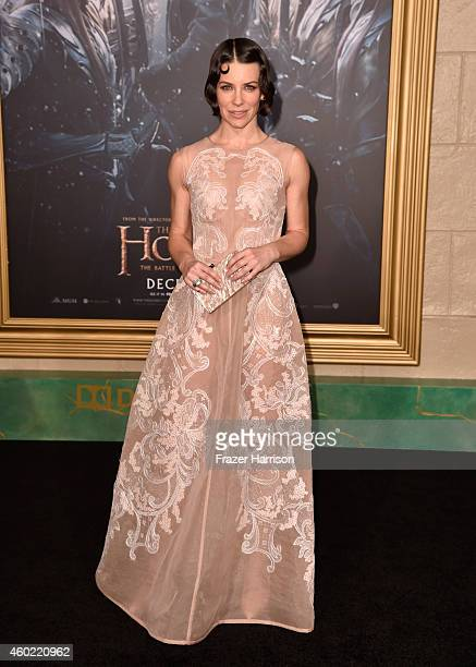 Actress Evangeline Lilly attends the premiere of New Line Cinema MGM Pictures And Warner Bros Pictures' 'The Hobbit The Battle Of The Five Armies' at...