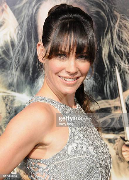 Actress Evangeline Lilly attends the premiere of 'The Hobbit The Desolation Of Smaug' on December 2 2013 at TCL Chinese Theatre in Hollywood...