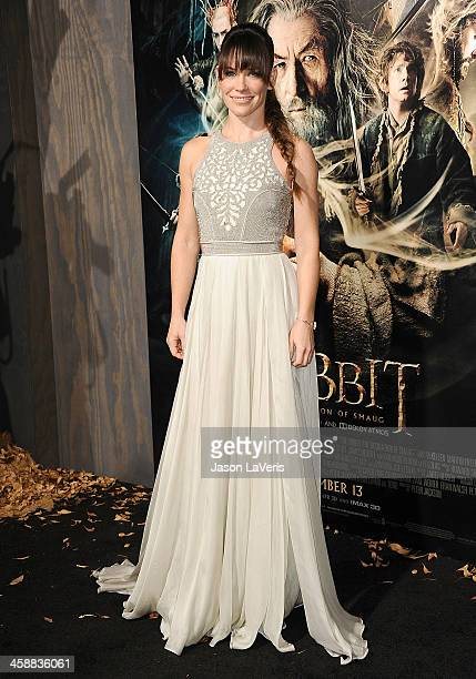 Actress Evangeline Lilly attends the premiere of The Hobbit The Desolation Of Smaug at TCL Chinese Theatre on December 2 2013 in Hollywood California