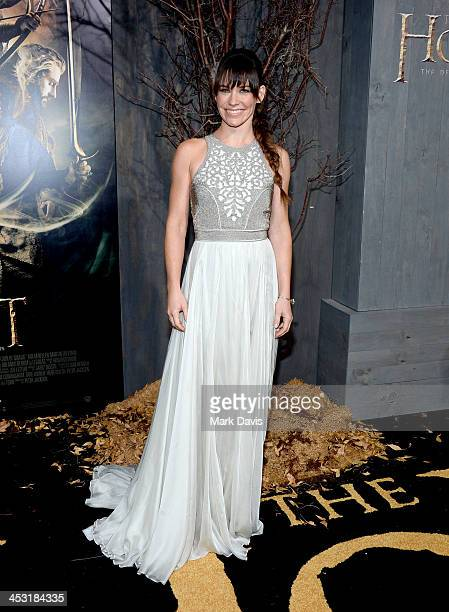 Actress Evangeline Lilly attends the premiere of Warner Bros' The Hobbit The Desolation Of Smaug at TCL Chinese Theatre on December 2 2013 in...