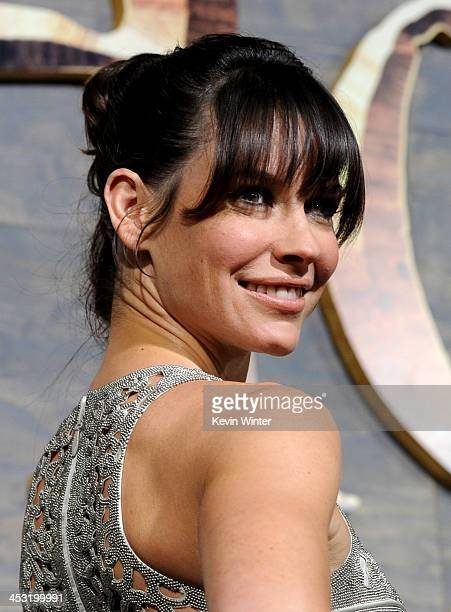 Actress Evangeline Lilly attends the premiere of Warner Bros' 'The Hobbit The Desolation of Smaug' at TCL Chinese Theatre on December 2 2013 in...
