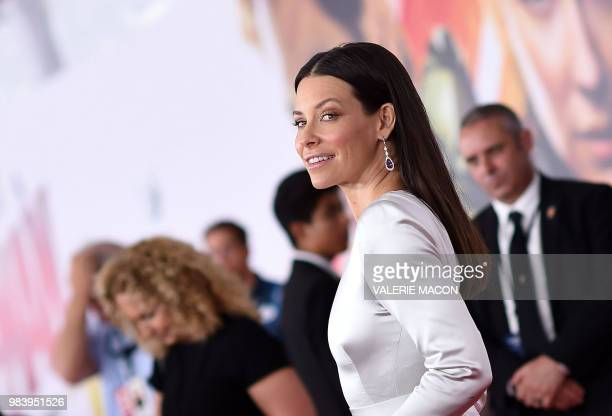 US actress Evangeline Lilly attends the World Premiere of Marvel Studios' AntMan and The Wasp at the El Capitan Theater on June 25 in Hollywood...