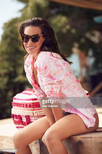Actress Evangeline Lilly is photographed for Shape Magazine on April 9 2018 in Los Angeles California PUBLISHED IMAGE