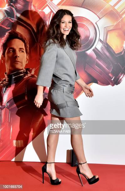 US actress Evangeline Lilly poses during a photocall of the fim 'AntMan and The Wasp' in Rome on July 19 2018