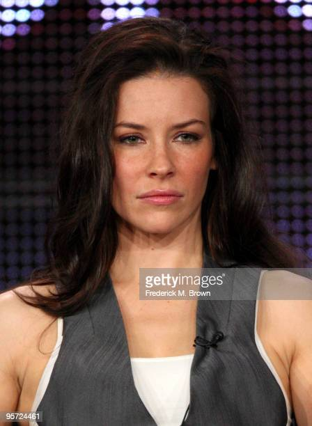 Actress Evangeline Lilly speaks onstage at the ABC 'Lost' QA portion of the 2010 Winter TCA Tour day 4 at the Langham Hotel on January 12 2010 in...