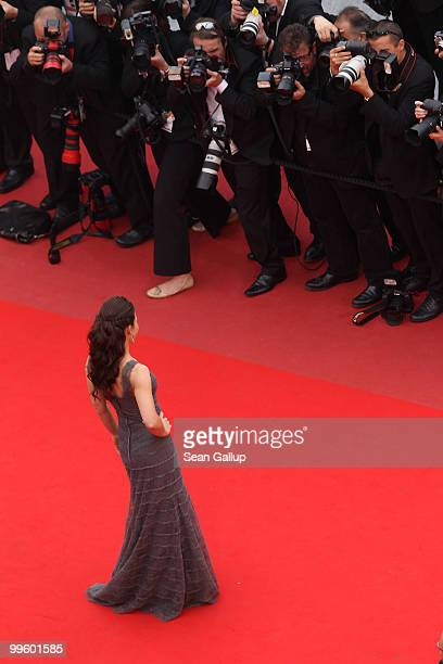 Actress Evangeline Lily attends 'The Princess Of Montpensier' Premiere at the Palais des Festivals during the 63rd Annual Cannes Film Festival on May...