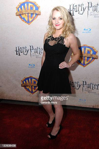 Actress Evanna Lynch arrives at the Harry Potter and the Deathly Hallows Part 2 Celebration at Universal Orlando on November 12 2011 in Orlando...