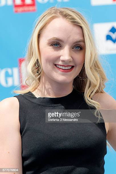 Actress Evanna Lynch attends the Giffoni Film Festival photocall on July 18 2016 in Giffoni Valle Piana Italy