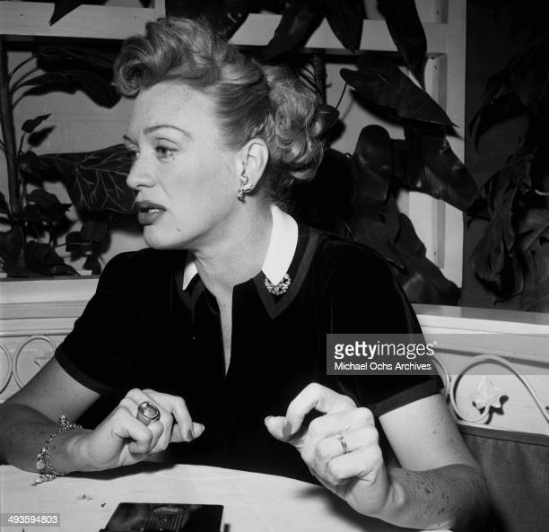 Actress Eve Arden at lunch in Los Angeles California