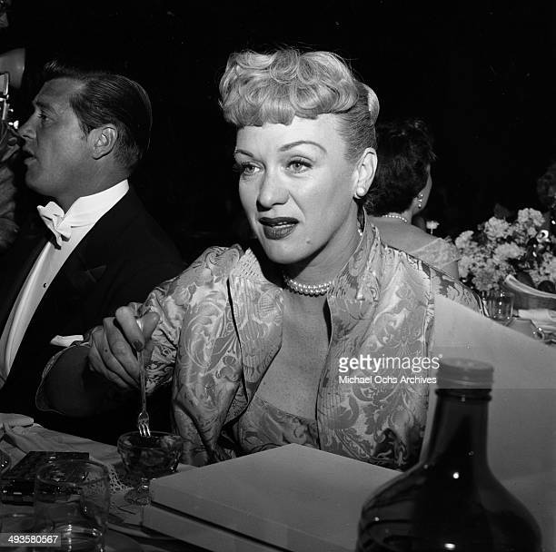 Actress Eve Arden attends the Emmy Awards in Los Angeles California
