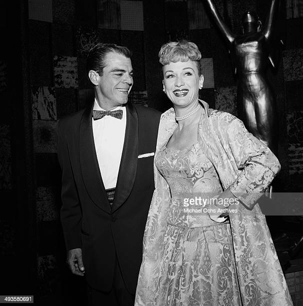 Actress Eve Arden with husband Brooks West attends the Emmy Awards in Los Angeles California
