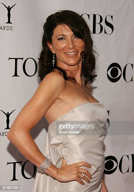 Actress Eve Best arrives at the 62nd Annual Tony Awards held at Radio City Music Hall on June 15 2008 in New York City