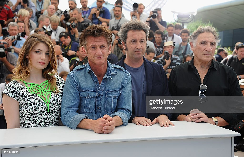 Actress Eve Hewson, actor Sean Penn, director Paolo Sorrentino and actor Judd Hirsch attend the 'This Must Be The Place' photocall during the 64th Annual Cannes Film Festival at Palais des Festivals on May 20, 2011 in Cannes, France.