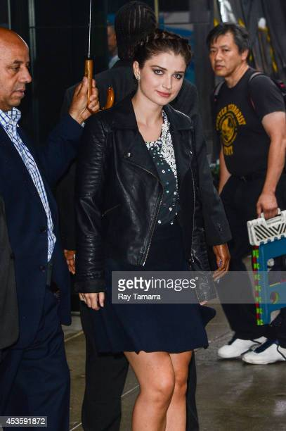 Actress Eve Hewson leaves the Good Morning America taping at the ABC Times Square Studios on August 13 2014 in New York City