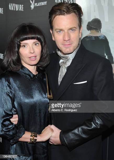 Actress Eve Mavrakis and actor Ewan McGregor arrives to the premiere of Relativity Media's Haywire at DGA Theater on January 5 2012 in Los Angeles...