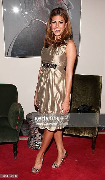 Actress Eve Mendes attends the Dolce Gabbana's The One Fragrance Launch and Private Dinner at The Grammercy Park Hotel on december 4 2007 in New York...