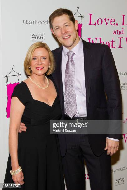 Actress Eve Plumb and John Bolton attend the Love Loss And What I Wore new cast member celebration at B Smith's Restaurant on January 5 2012 in New...