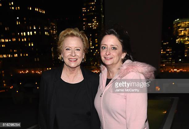 Actress Eve Plumb and TV Writer Rachel Dratch attend the After Party for a screening of Sony Pictures Classics' The Bronze hosted by the Cinema...