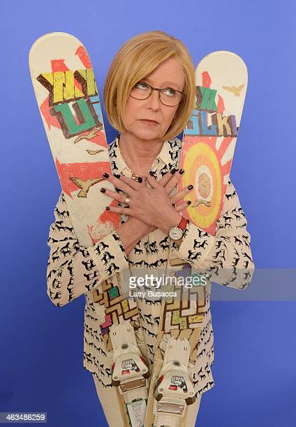 Actress Eve Plumb poses for a portrait during the 2014 Sundance Film Festival at the Getty Images Portrait Studio at the Village At The Lift...