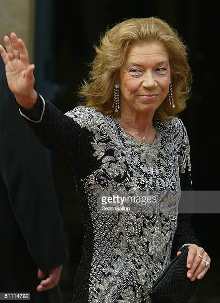 Actress Evelyn Hamann arrives for the opening performance of Richard Wagner's Parsifal July 25 2004 on the first day of the 93rd Richard Wagner...