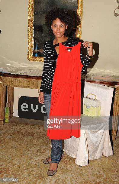 Actress Evelyn JeanLouis arrives at the PreGolden Globes DPA Gifting Lounge hosted by Nathalie Dubois held at the The Peninsula Hotel on January 8...