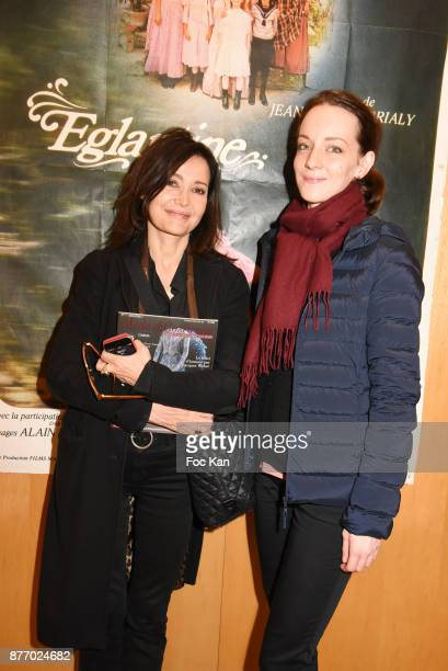 Actress Evelyne Bouix and Caroline Plaud editor in chief of Mode Costumes magazine attend the Tribute to JeanClaude Brialy at Centre National du...